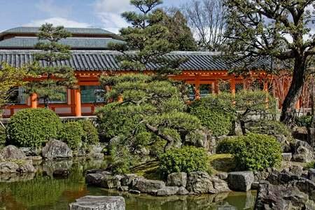 Khung cảnh bên ngoài chùa Sanjusangendo